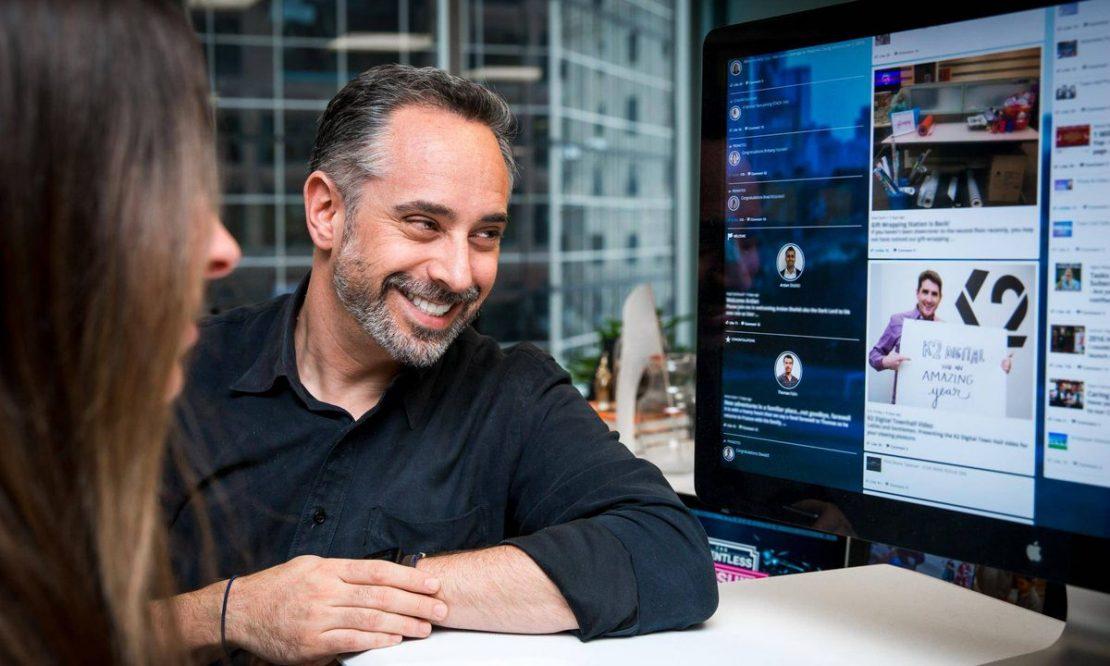 Jay showing the SenseiOS platform
