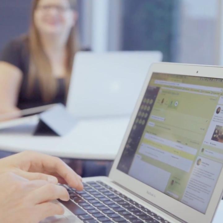People collaborating using the SenseiOS platform